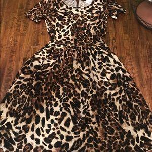 Lularoe unicorn leopard Amelia dress Nwt size Xxs